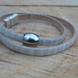 Armband zilverwit