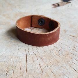 semms cognac leren armband