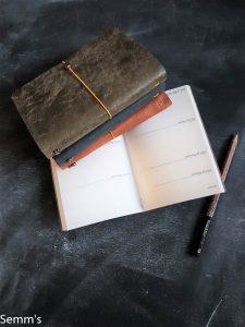 leren notitieboekje en agenda