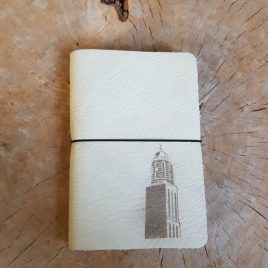 wit leren notitieboekje peperbus
