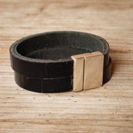 Zwarte dubbele armband