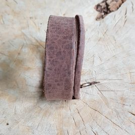 semms brede leren armband