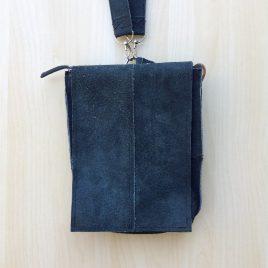 zwart leren schoudertasje