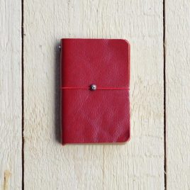 rood leren notitieboekje