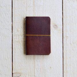 leren omslag notitieboekje