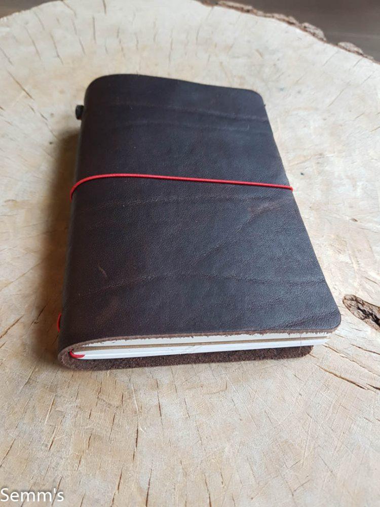 donkerbruin leren notitieboek