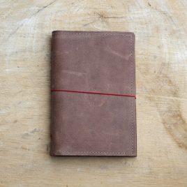 leren notitieboekje