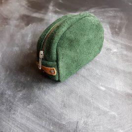 groen leren makeuptasje