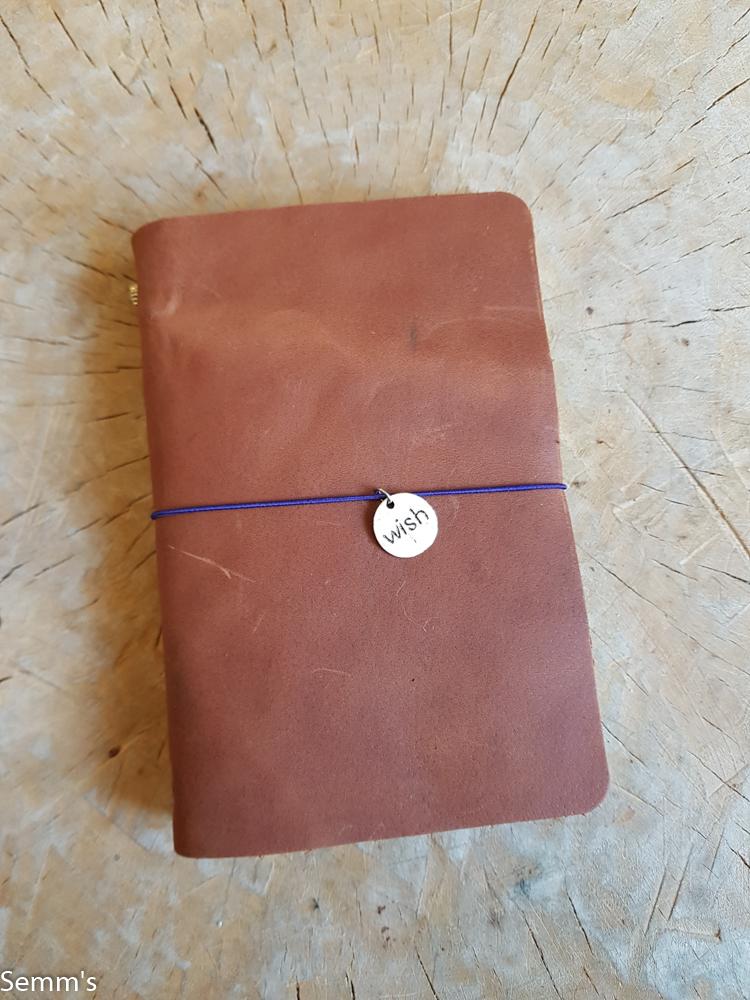 semms leren notitieboekje cognac