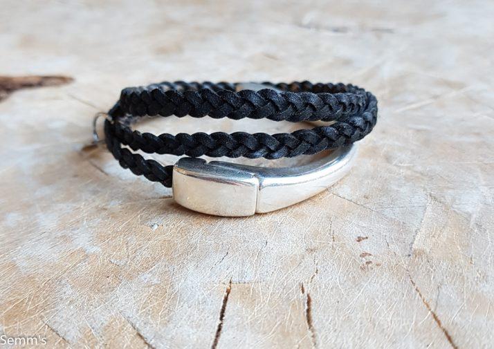 gevlochten leren armband