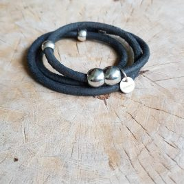 semms armband zwart vintage leer