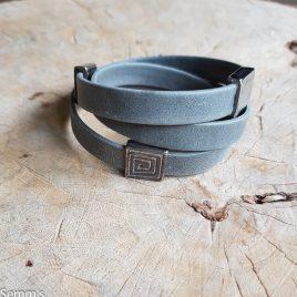 semms grijze leren armband