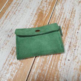 semms groen suede portemonneetje