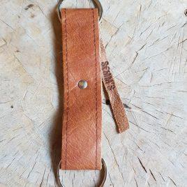cognackleurige sleutelhanger