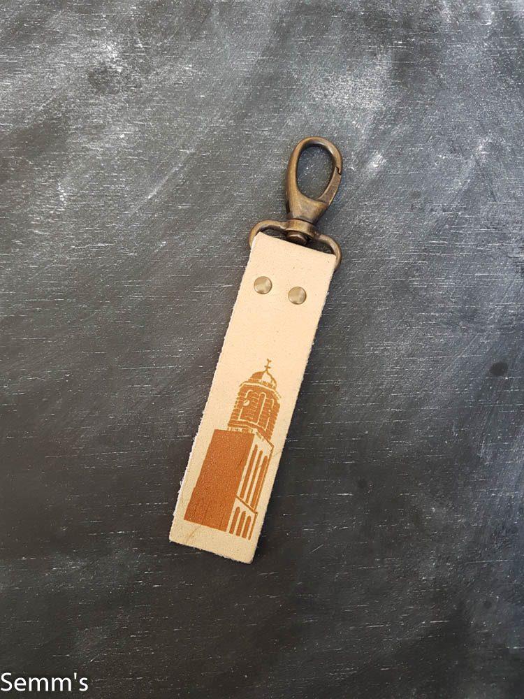 beige peperbus sleutelhanger