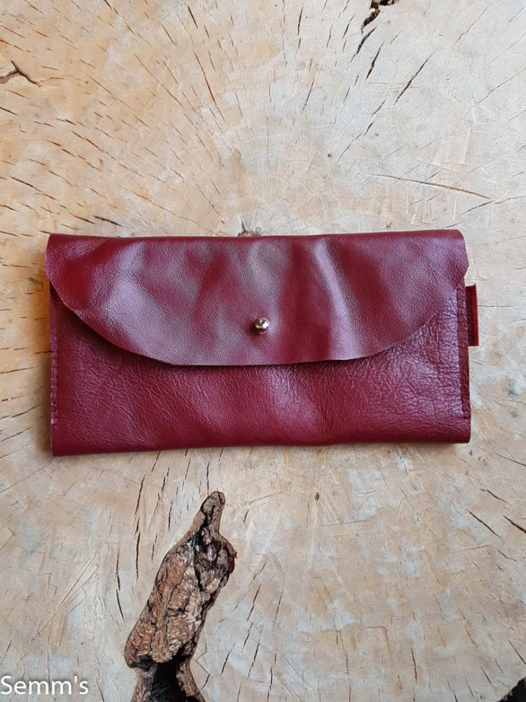 rode leren portefeuille