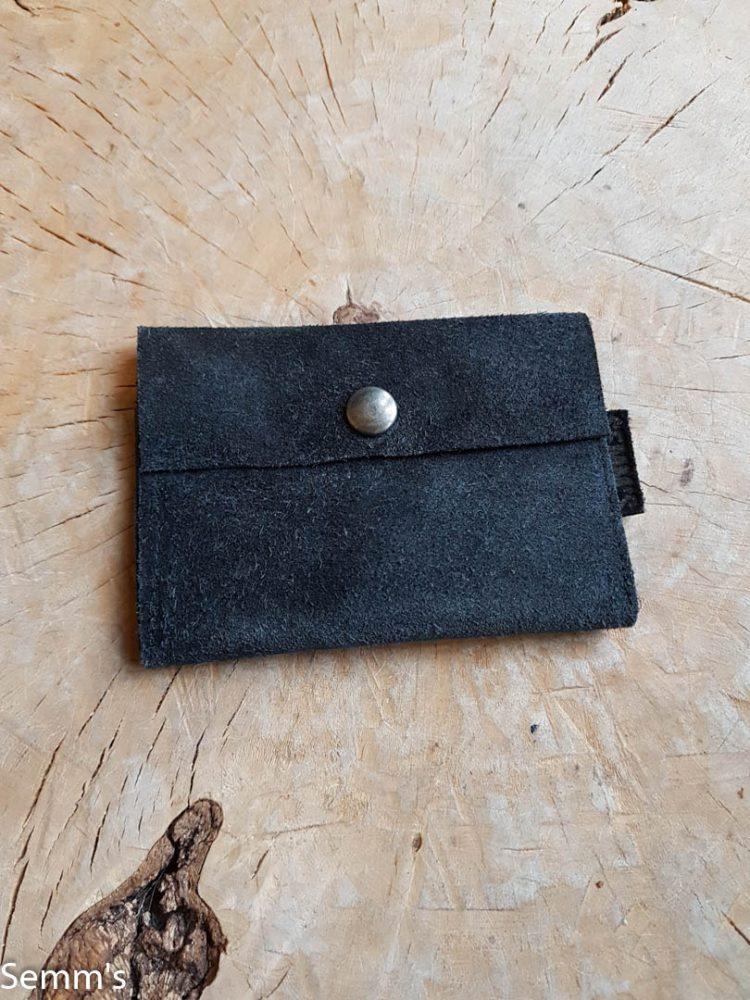 zwart suede portemonnee