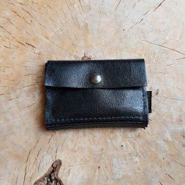 zwarte leren portemonnee
