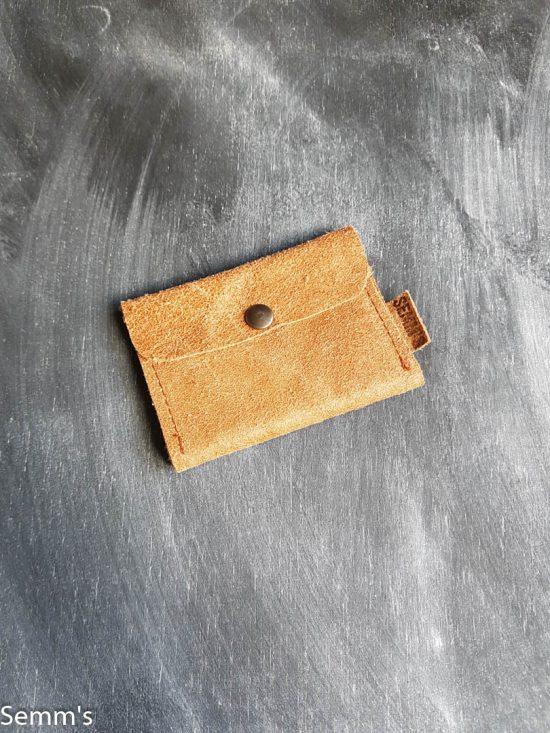 cognac leren portemonneetje