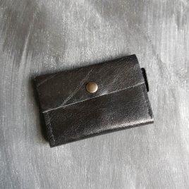 zwart leren portemonnee
