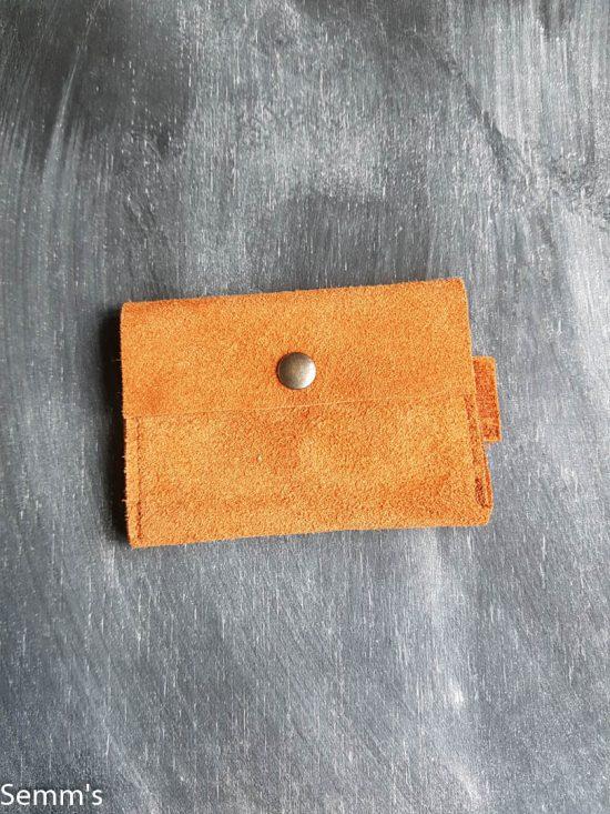 suede portemonneetje