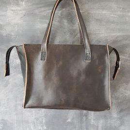 zwart leren handtas