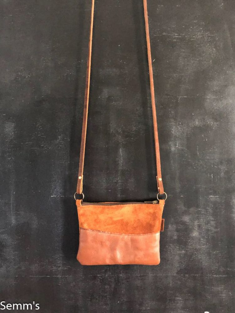 cognackleurige crossbody