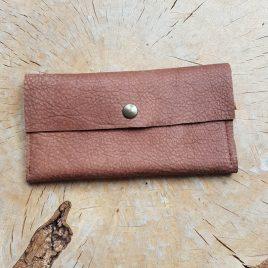 bruin leren portemonee