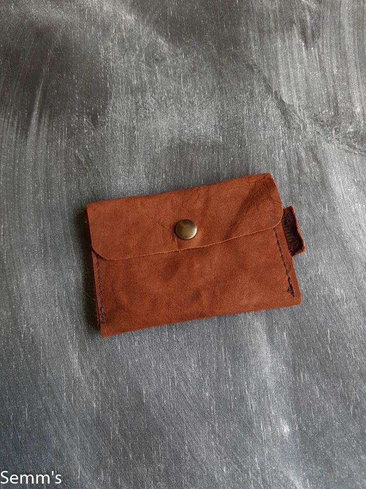 bruin leren portemonnee