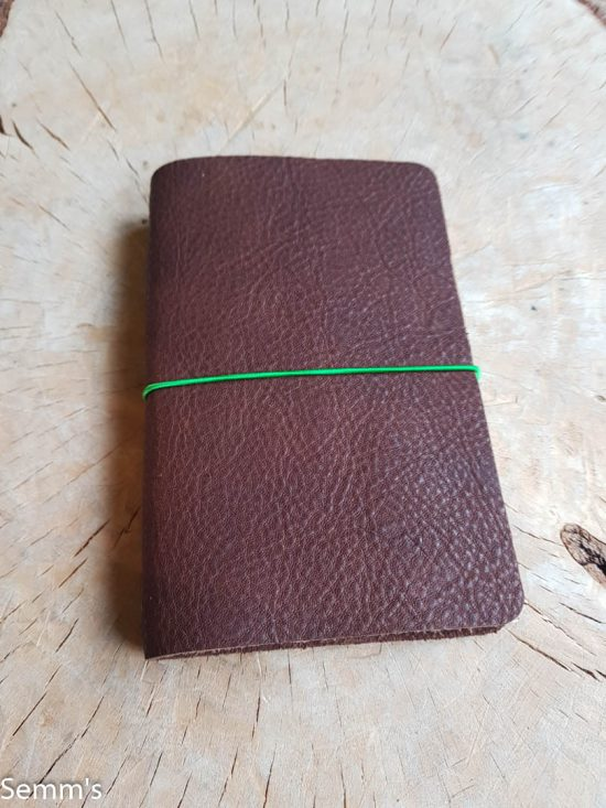 leren notitieboekje bruin