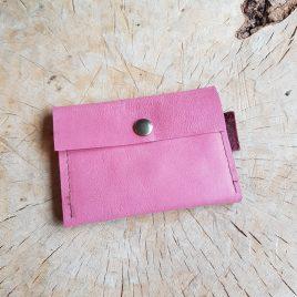 klein leren portemonneetje