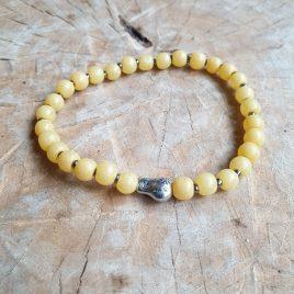geel kralen armbandje voor dames