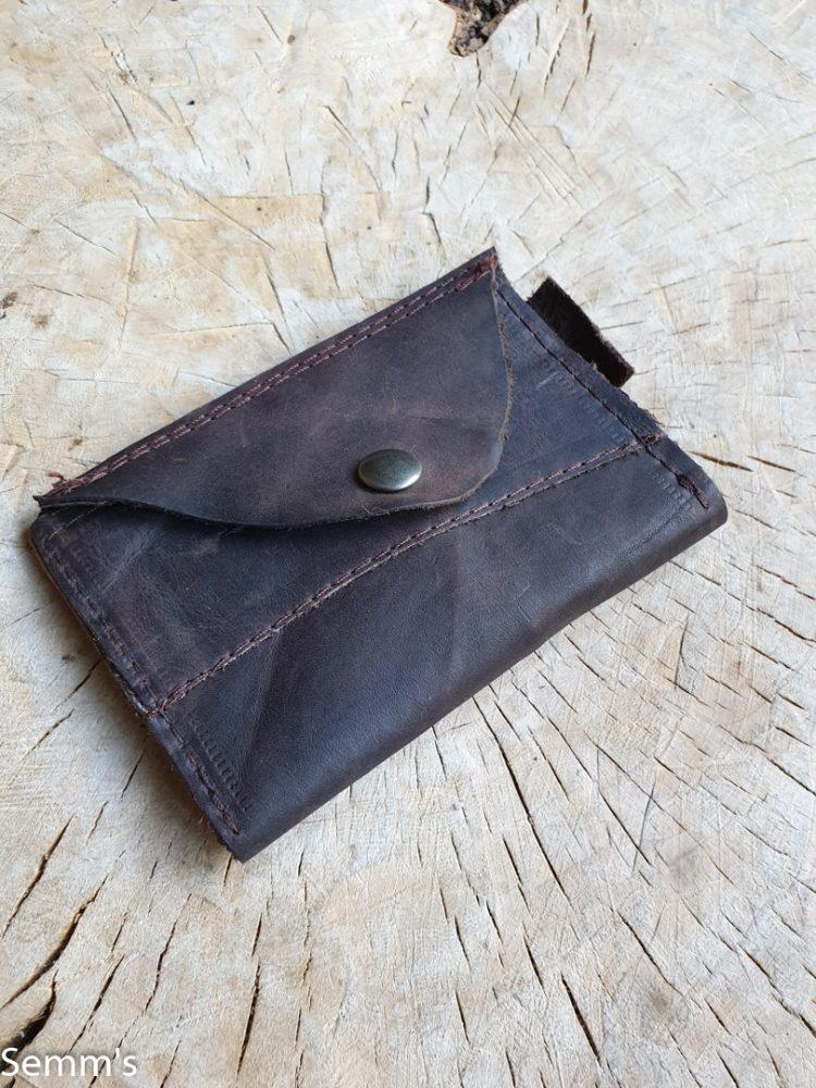 bruin leren portemonneetje