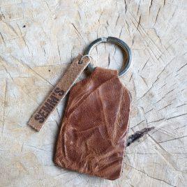 leren sleutelhanger bruin