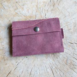 leren portemonneetje voor pasjes en kleingeld
