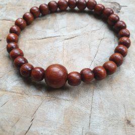 armband houten kraaltjes
