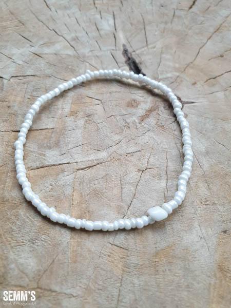 kralenarmbandje witte rocailles